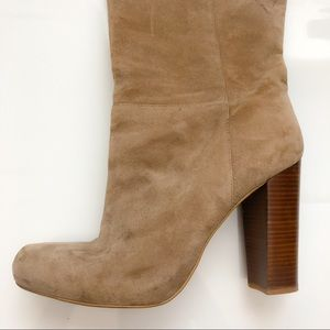 Knee High Suede Leather Boots